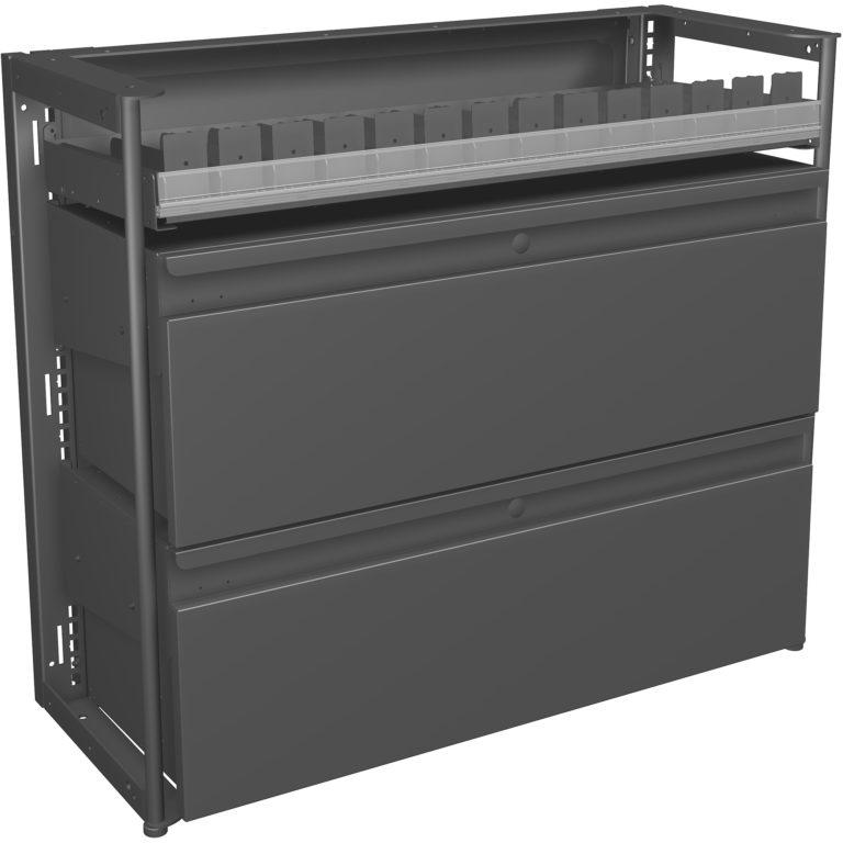 20573.1 Base 3ft Metal w_Storage Drawers no side panel Classic